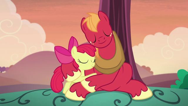 File:Apple Bloom and Big McIntosh hugging S5E17.png