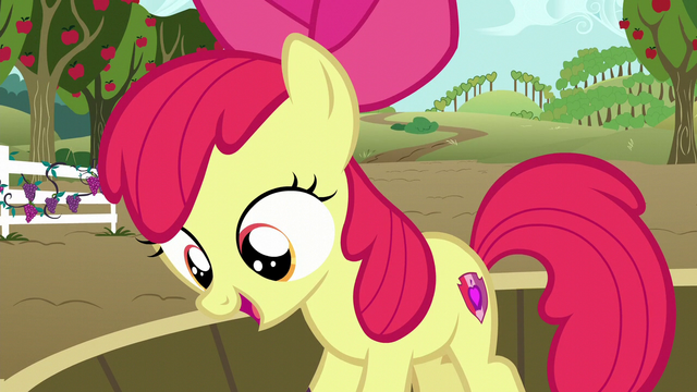 File:Apple Bloom on a tub of grapes happy S6E4.png