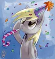 FANMADE Derpy Hooves party hat salute by whitediamonds