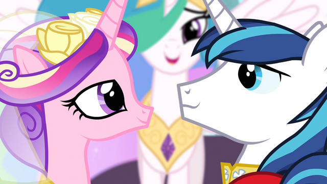 File:Princess Cadance and Shining Armor smiling at each other S02E26.png