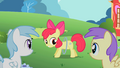 Princess Erroria and Cotton Cloudy impressed by Apple Bloom's moves S2E6.png