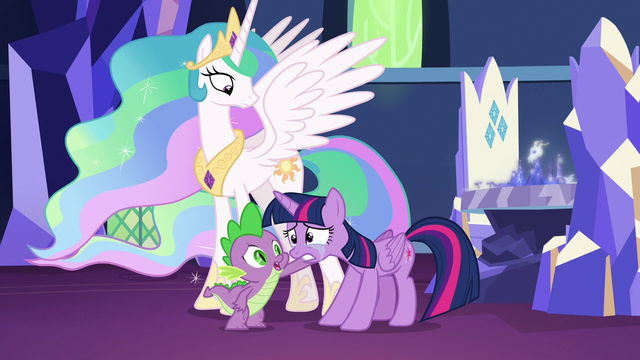 File:Spike comforting Twilight Sparkle S7E1.png