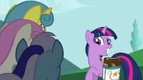 Twilight Sparkle nervous smile S5E12