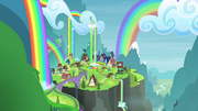 Distance view of Rainbow Falls S4E22