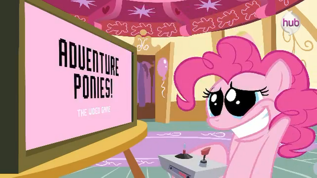 File:Hub Promo - 8 bit commercial Gaming Pinkie.png