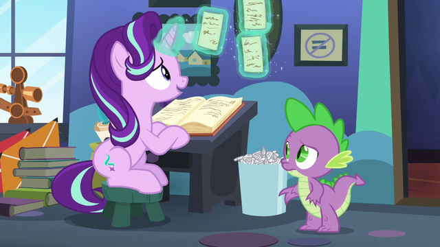 File:Starlight Glimmer looking at her papers S6E21.png