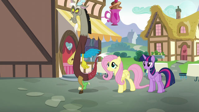 File:Fluttershy and Discord leaving Twilight S5E22.png
