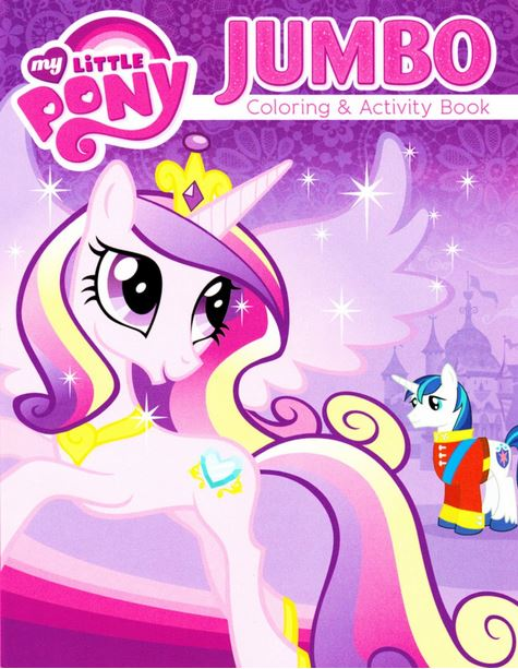 image my little pony princess cadance jumbo coloring book coverjpg my little pony friendship is magic wiki fandom powered by wikia