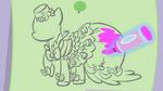 Pinkie Pie's Dress sketch S1E14