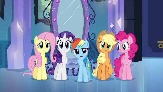 File:Rainbow Dash questioning Princess Celestia EG.png