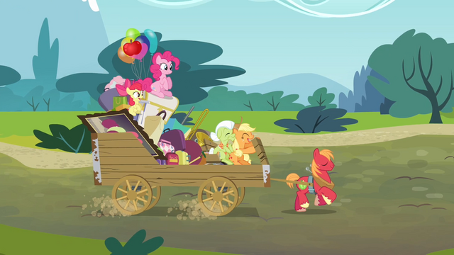 File:Applejack 'We travel the road of generations' S4E09.png