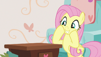 Fluttershy looking gleefully playful S7E12