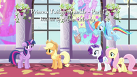 Main characters approaching Twilight S4E01