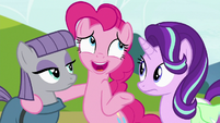 "Pinkie ""let's not tell anypony that part"" S7E4"