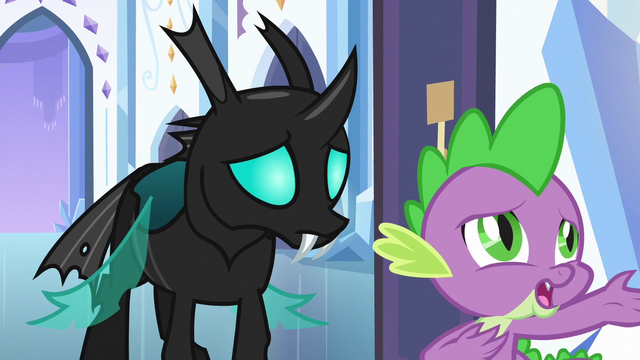 """File:Spike singing """"then why can't we imagine"""" S6E16.png"""