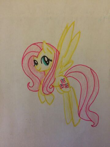 File:FANMADE Fluttershy flying.jpg