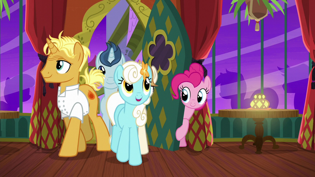 File:Pinkie letting ponies inside The Tasty Treat S6E12.png