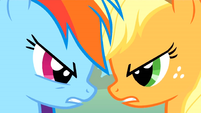 Rainbow Dash and Applejack 'It's on!' S1E13