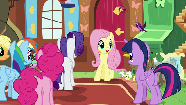 """File:Fluttershy """"we're right on track to building"""" S7E5.png"""