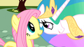 "Fluttershy and Celestia ""rather melodramatic"" S01E22.png"