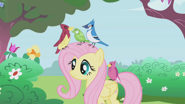 File:Fluttershy with birds S01E03.png