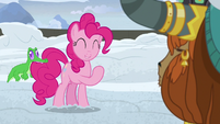 "Pinkie Pie ""happy to come dig the snow away"" S7E11"