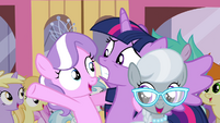 Twilight with Diamond Tiara and Silver Spoon S4E15