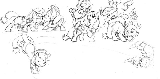 File:FANMADE Applejack fighting production sketch Fighting is Magic.jpg