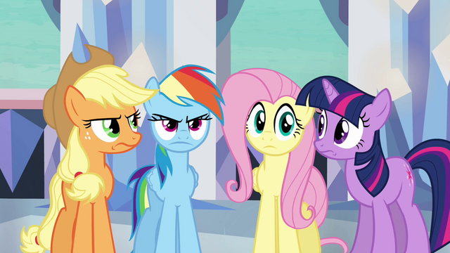 File:Main ponies have no idea what Pinkie's doing S03E12.png