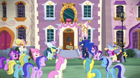 Ponies stomp their hooves for Princess Luna S7E10