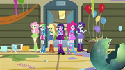 Twilight and friends in the ruined gym EG.png