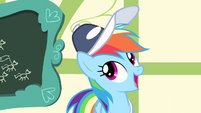 "Rainbow Dash ""carried the Cloudsdale flag"" S4E05"
