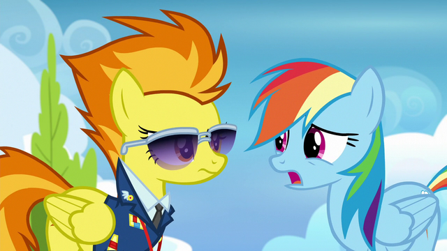 """File:Rainbow Dash """"it's a long story"""" S6E24.png"""