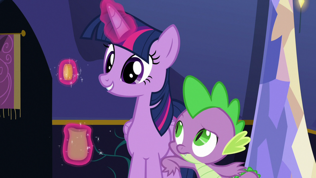File:Spike nudging Twilight Sparkle S6E15.png