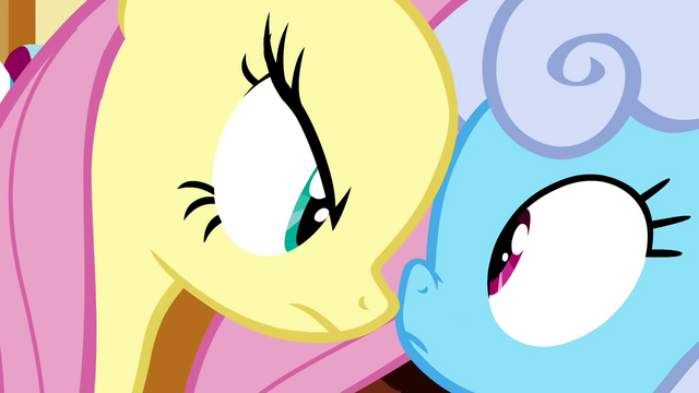 File:Fluttershy in Shoeshine's face S2E19.png