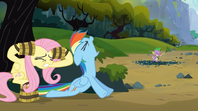 File:Rainbow Dash roars like a timberwolf S03E09.png