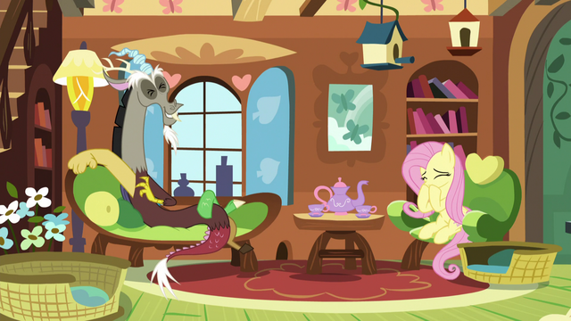 File:Discord and Fluttershy having a fun time S5E7.png