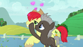 Burnt Oak waves his hoof in Bright Mac's face S7E13.png