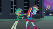 Rainbow Dash tosses the crown to Fluttershy EG