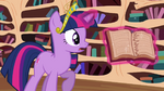 Twilight finds a page torn out of a book S03E10
