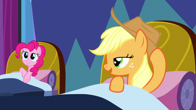 File:Pinkie Pie and Applejack wake up S5E13.png