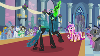 Queen Chrysalis looks back at Shining Armor S2E26