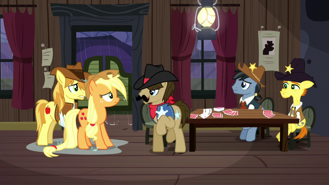 File:Silverstar beckons ponies into action S5E6.png