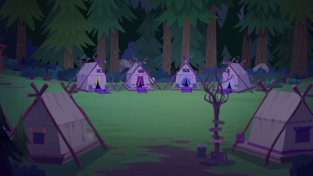 File:Camp Everfree tent area at nighttime EG4.png