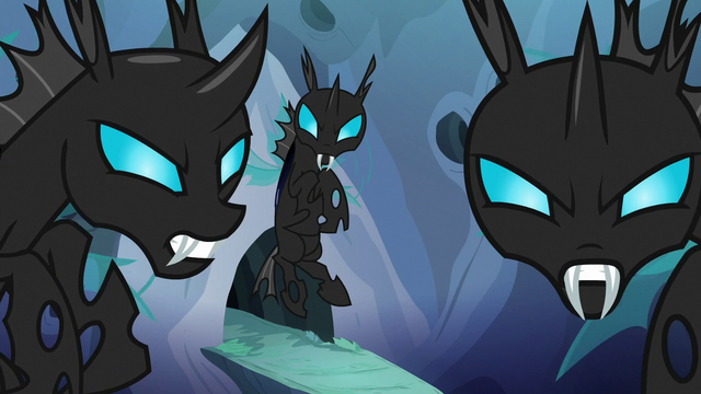 File:Changeling patrol glaring at Thorax S6E26.png