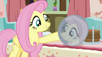 Fluttershy looking at her reflection S7E12