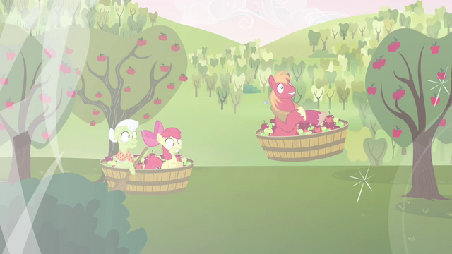 File:Granny Smith, Apple Bloom, and Big Mac in midair S03E10.png