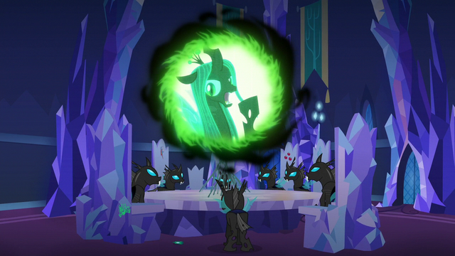"File:Queen Chrysalis ""one ponynapped princess wasn't enough"" S6E25.png"