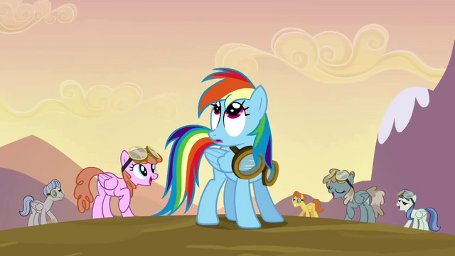 File:Rainbow Dash noticing Fluttershy S2E22.png