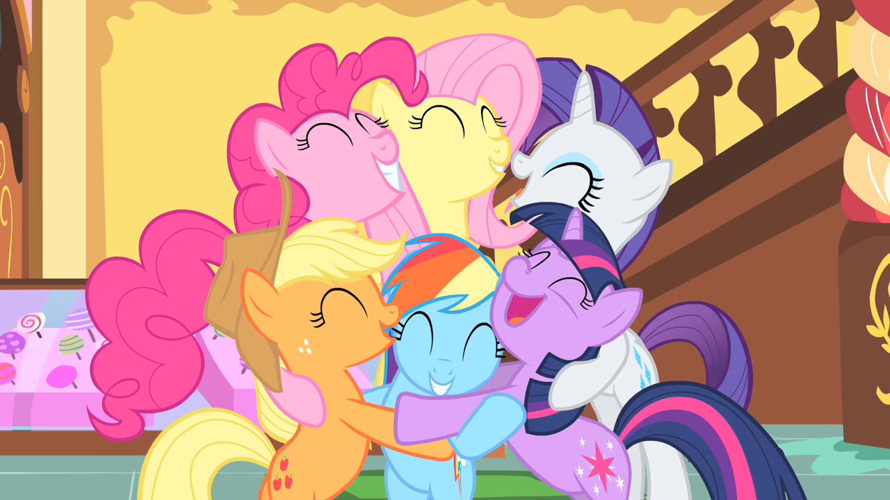 Image - A big group hug S1E23.png | My Little Pony ...